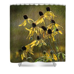 Yellow Coneflowers Shower Curtain
