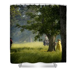 Yellow Dress Shower Curtain by Kim Henderson