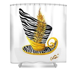 Yellow Magic Hat Shower Curtain by Oddball Art Co by Lizzy Love