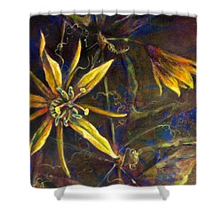 Yellow Passion Shower Curtain