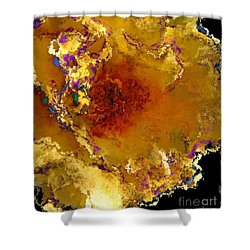 Yellow Rose Art Shower Curtain by Debbie Portwood