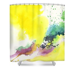 Yellow Sky 2 Shower Curtain by Anil Nene