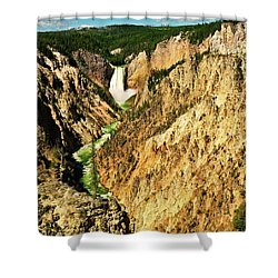 Shower Curtain featuring the photograph Yellowstone Grand Canyon by Greg Norrell