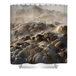 Shower Curtain featuring the photograph Yellowstone Steam by J L Woody Wooden