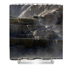 Shower Curtain featuring the photograph Yellowstone Texture by J L Woody Wooden