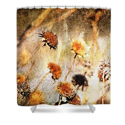 Yesterday's Flowers Shower Curtain