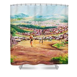 Yesteryears Shower Curtain by Uly Ogwah