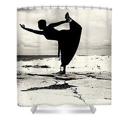 Yoga Balance Shower Curtain by Stelios Kleanthous