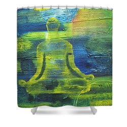 Yoga Textured Canvas Series I Shower Curtain