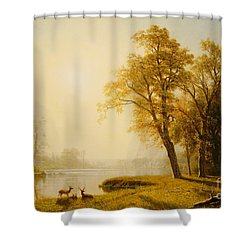 Yosemite Valley Shower Curtain by Albert Bierstadt