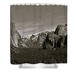 Shower Curtain featuring the photograph Yosemite Valley by Eric Tressler