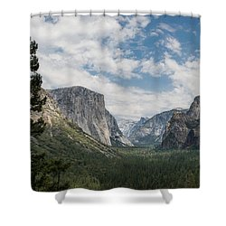 Yosemite Valley From Tunnel View At Yosemite Np Shower Curtain