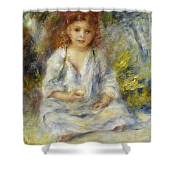Young Algerian Girl Shower Curtain by Pierre Auguste Renoir
