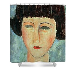 Young Brunette Shower Curtain by Modigliani