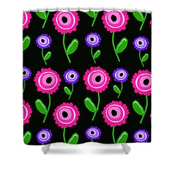 Young Florals  Shower Curtain by Louisa Knight