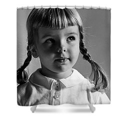 Young Girl Shower Curtain by Hans Namuth and Photo Researchers