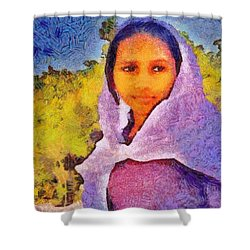Young Moroccan Girl Shower Curtain