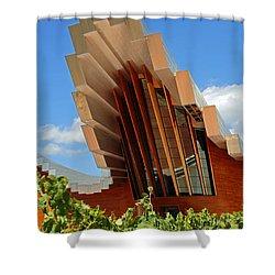 Ysios Winery Spain Shower Curtain by John Stuart Webbstock