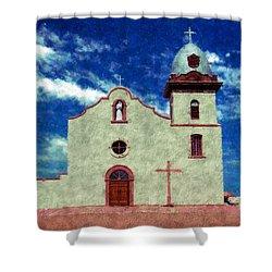 Ysleta Mission Texas Shower Curtain by Kurt Van Wagner