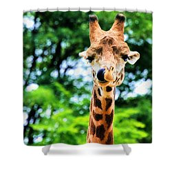 Yum Sllllllurrrp Shower Curtain by Angela Rath