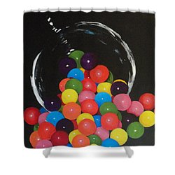 Shower Curtain featuring the painting Yummy Gum by Betty-Anne McDonald