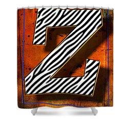Z Shower Curtain by Mauro Celotti