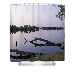 Zambesi River Shower Curtain by Axiom Photographic