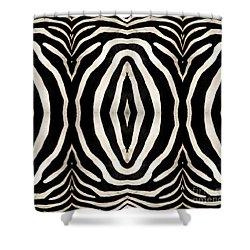 Zebra Hide Shower Curtain by Rose Santuci-Sofranko