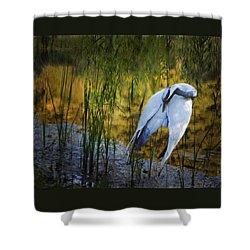 Zen Pond Shower Curtain by Melinda Hughes-Berland