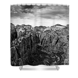 Zion National Park - View From Angels Landing Shower Curtain