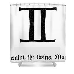 Zodiac: Gemini Shower Curtain by Granger