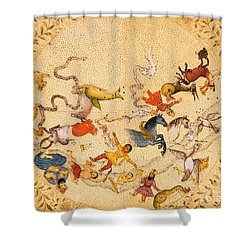 Zodiac Signs From Indian Manuscript Shower Curtain by Science Source