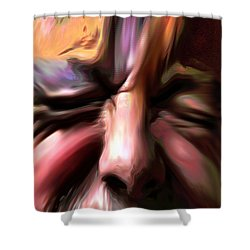 Disabled Vet Shower Curtain by Terence Morrissey