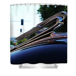 1941 Cheverolet Hood Ornament Shower Curtain