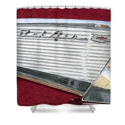 1957 Chevrolet Bel Air Convertible Shower Curtain by Rob De Vries