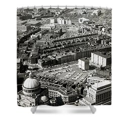1965 Aerial View Of Boston No.1 Shower Curtain