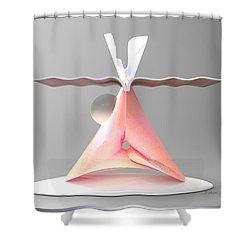 ' 3angul-art-wist Table ' Shower Curtain
