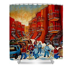 A Beautiful Day For The Game Shower Curtain by Carole Spandau
