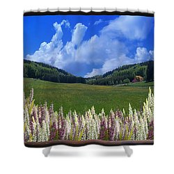 Shower Curtain featuring the photograph  A Beautiful View by Bernd Hau