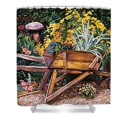 A Gardener's Helper Shower Curtain