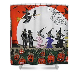 A Halloween Wedding Shower Curtain by Jeffrey Koss