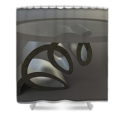 ' A Squirlique Table ' Shower Curtain