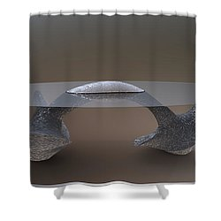 ' A Twisted Anchor Table ' Shower Curtain