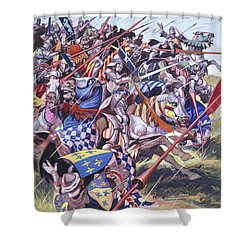 Agincourt The Impossible Victory 25 October 1415 Shower Curtain by Ron Embleton