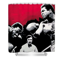 - Ali Vs Fraser - Shower Curtain by Luis Ludzska