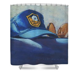 Angels Hat And Sunglasses Shower Curtain