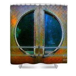 Art Deco Door In Halifax Nova Scotia Shower Curtain by John Malone