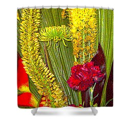 Artistic Floral Arrangement Shower Curtain