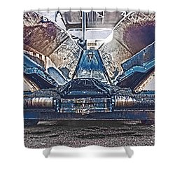 Asphalt Paver Shower Curtain by Terri Waters