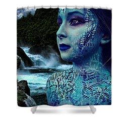 Atlantis Mermaid  Shower Curtain